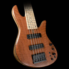 Fodera Emperor Standard 5 Electric Bass Guitar Flamed Redwood Natural