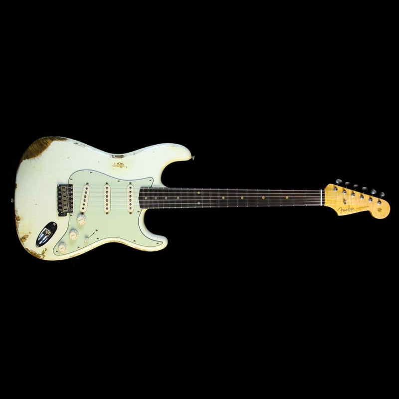 Fender Custom Shop '60 Stratocaster Relic Electric Guitar Aged Olympic White R91215