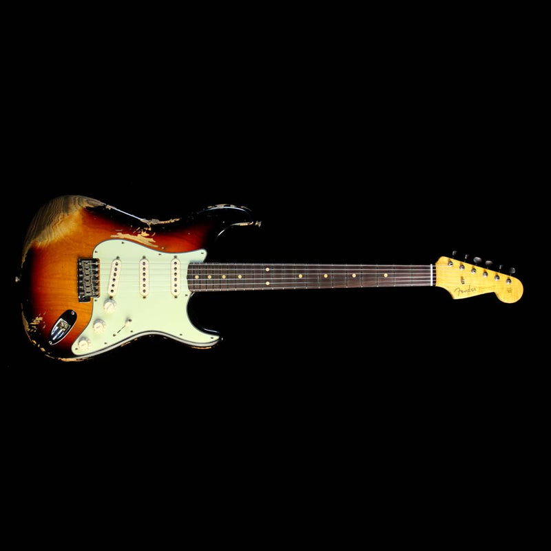 Fender Custom Shop '60 Stratocaster Relic Electric Guitar Aged 3-Tone Sunburst R91277