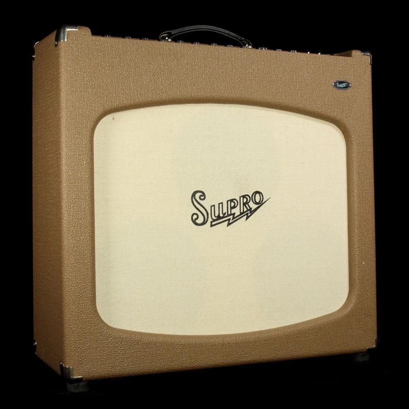 Used Supro Tremolectric 3x10 Tube Combo Electric Guitar Amplifier 42