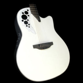 Ovation Melissa Etheridge Signature Elite Plus Acoustic-Electric Guitar Pearl White