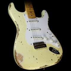 Used 2014 Fender Custom Shop 60th Anniversary 1954 Stratocaster Heavy Relic Electric Guitar Vintage White