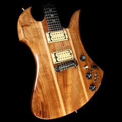 Used 1979 BC Rich Mockingbird Deluxe Electric Guitar Natural Koa
