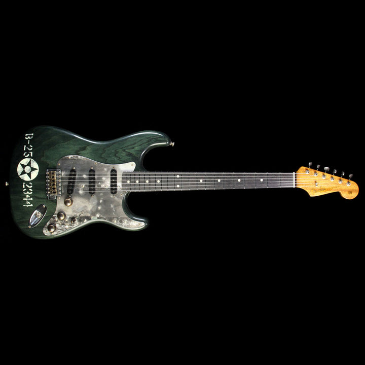 Fender Custom Shop Masterbuilt Yuriy Shishkov Pacific Battle Stratocaster Electric Guitar Transparent Green YS2821