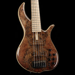 F Bass BN5 5-String Bass Burled Walnut Top 2018 NAMM Display