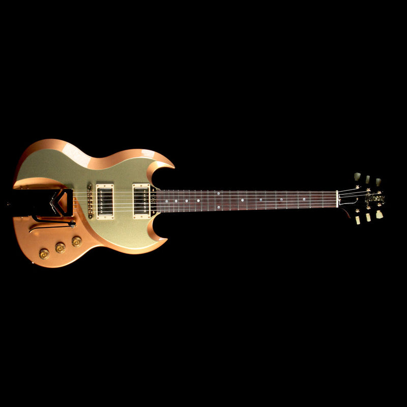 Gibson Custom Shop From the Vault Billy Gibbons Ultimate SG Prototype Electric Guitar Two-Tone Copper and Gold Metallic PROTO 005