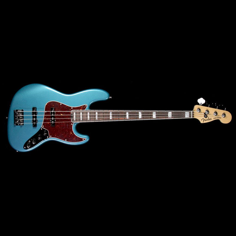 Fender American Elite Jazz Bass Electric Bass Guitar Ocean Turquoise US17092156