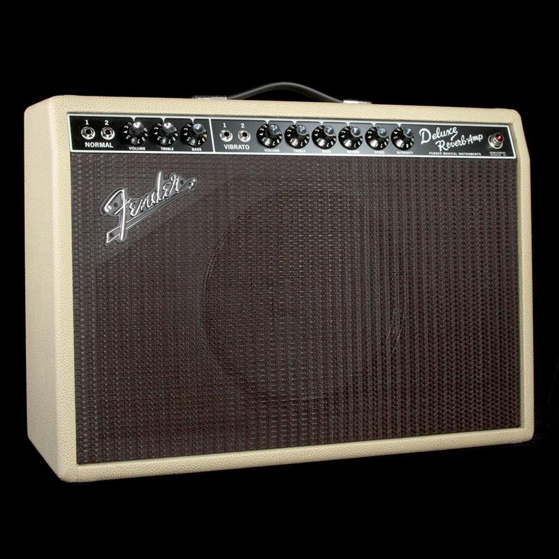 Fender Limited Edition '65 Deluxe Reverb Guitar Combo Amplifier Tan/Oxblood Weber Alnico 0217400404