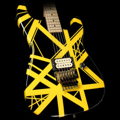 Used Charvel EVH Art Series Electric Guitar Black & Yellow