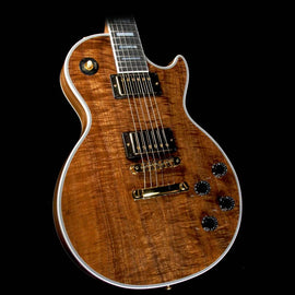 Gibson Custom Shop Les Paul Custom Koa Top Electric Guitar Natural