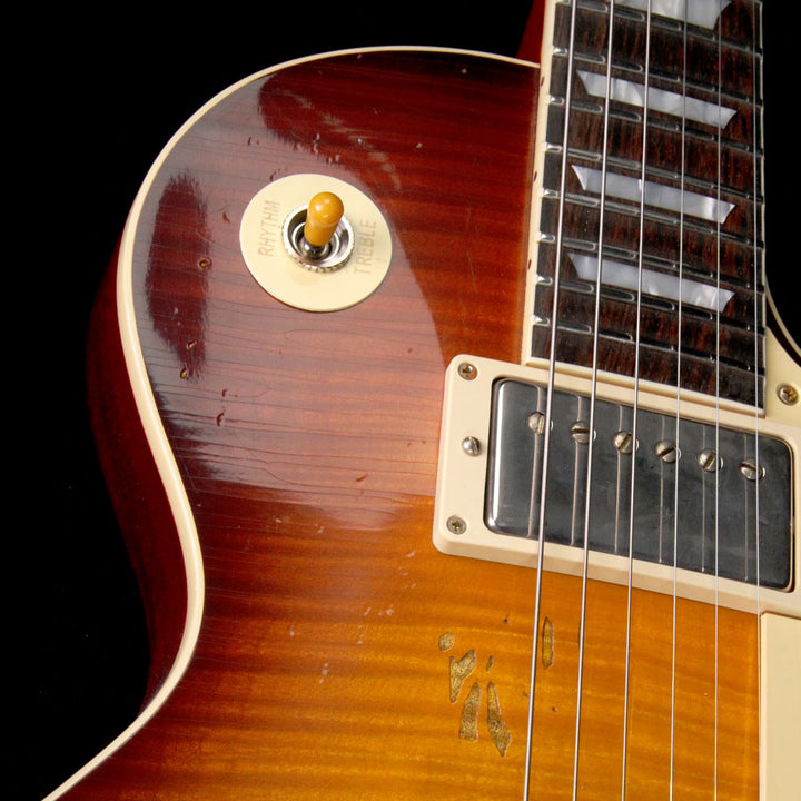 Gibson Custom Shop 1959 Les Paul Standard Brazilian Rosewood Fretboard Electric Guitar Slow Iced Tea Fade 98051