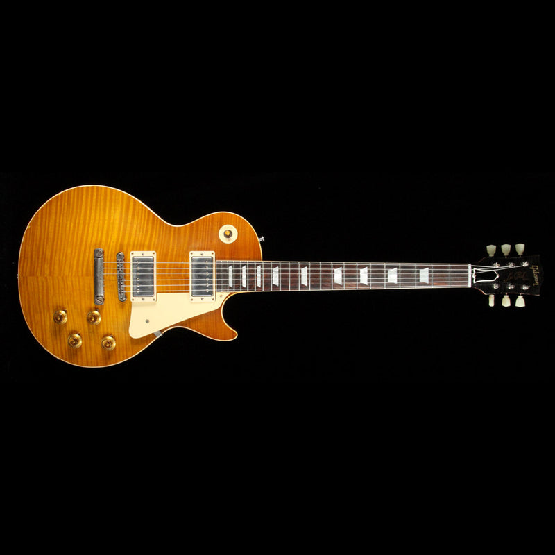 Gibson Custom Shop 1959 Les Paul Standard Brazilian Rosewood Fretboard Electric Guitar Dirty Lemon Fade 97086