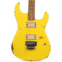 Charvel Custom Shop San Dimas Nitro Aged Roasted Alder Graffiti Yellow