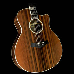 Used Taylor Custom Shop Grand Symphony Macassar Ebony and Sinker Redwood Acoustic/Electric Guitar Natural