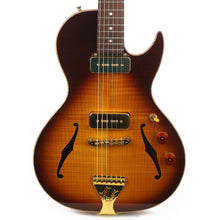 B&G Guitars Little Sister Crossroads Cutaway P-90 Tobacco Burst