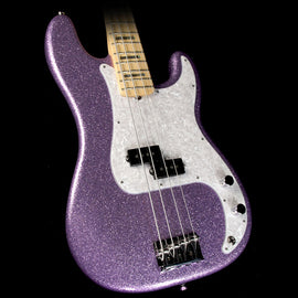 Fender Limited Edition Adam Clayton Signature Precision Bass Electric Bass Purple Sparkle