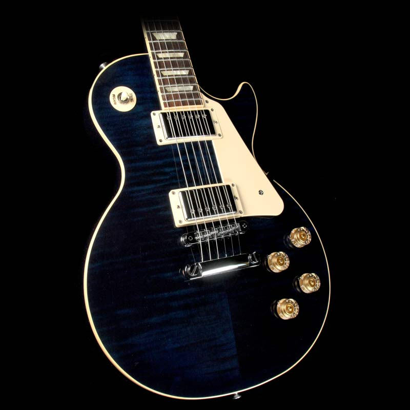 used 2013 gibson les paul traditional electric guitar chicago blue the music zoo