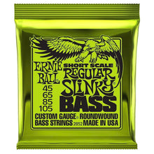 Ernie Ball Short Scale SlinkyBass Guitar Strings (45-105)