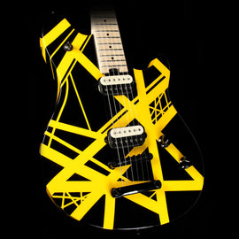 Used 2014 EVH Wolfgang Special Electric Guitar Striped Black and Yellow