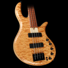 Elrick eVolution Gold Series 4-String Electric Bass Quilt Top Natural