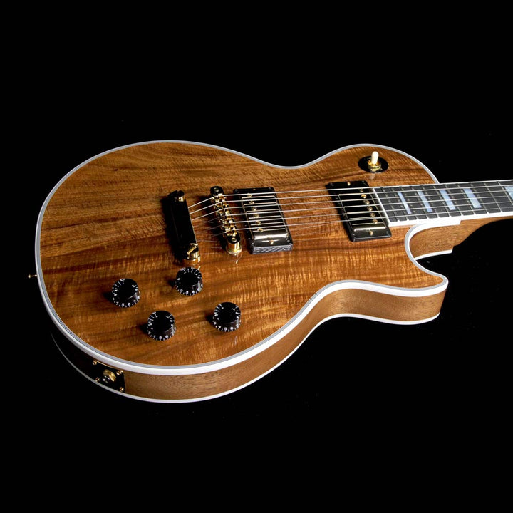 Gibson Custom Shop Les Paul Custom Koa Top Electric Guitar Natural CS703375