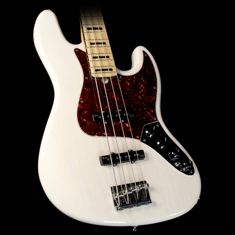 Used 2013 Fender American Deluxe Jazz Bass White Blonde #US13055848