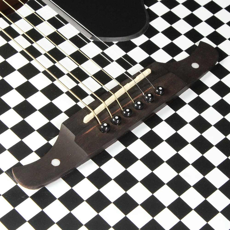 Fender FSR Tim Armstrong Hellcat Acoustic Guitar Checkerboard 0971752088