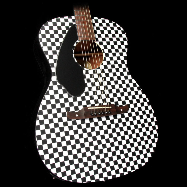 Fender FSR Tim Armstrong Hellcat Left-Handed Acoustic Guitar Checkerboard 0971757088