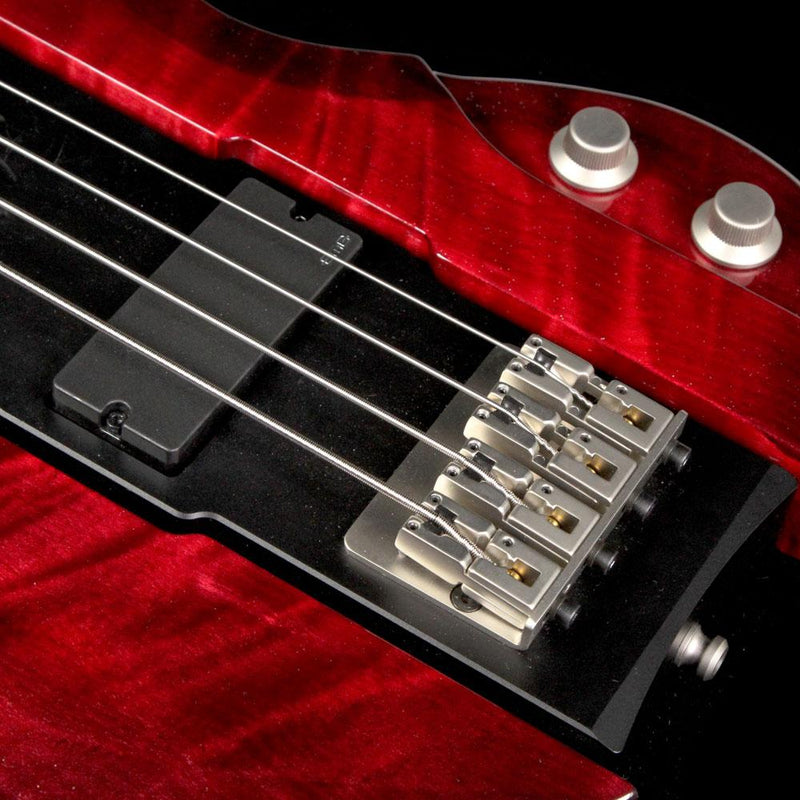 Eye's Bass EBG-2 Big Mama Aluminum Body Electric Bass Transparent Red 17/002
