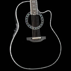 Ovation Custom Legend Deep Contour Acoustic-Electric Guitar Black