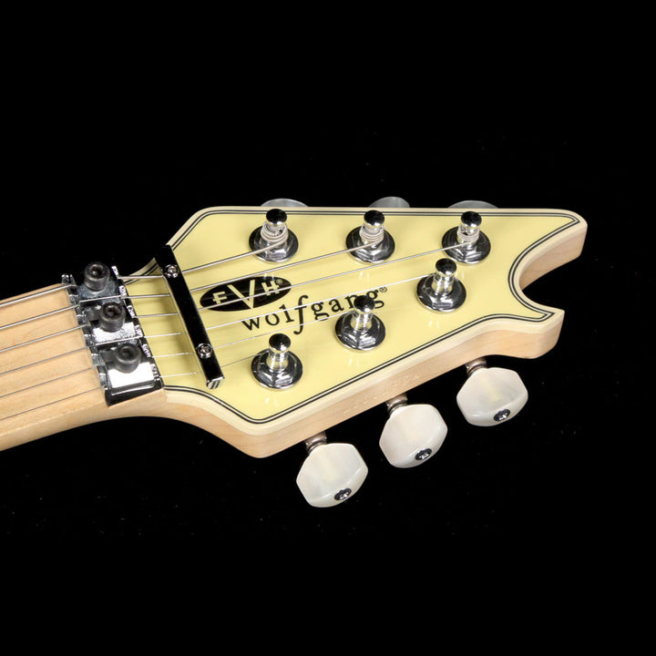Used EVH Wolfgang AA Birdseye Maple Neck Electric Guitar Vintage White WG00196A