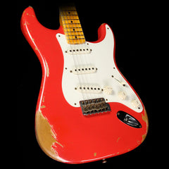 Used 2013 Fender Custom Shop Wildwood 10 '57 Stratocaster Electric Guitar Fiesta Red Heavy Relic