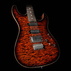 Used 2016 ESP Exhibition Limited Snapper CTM NAMM Display Electric Guitar Tiger Eye Quilt