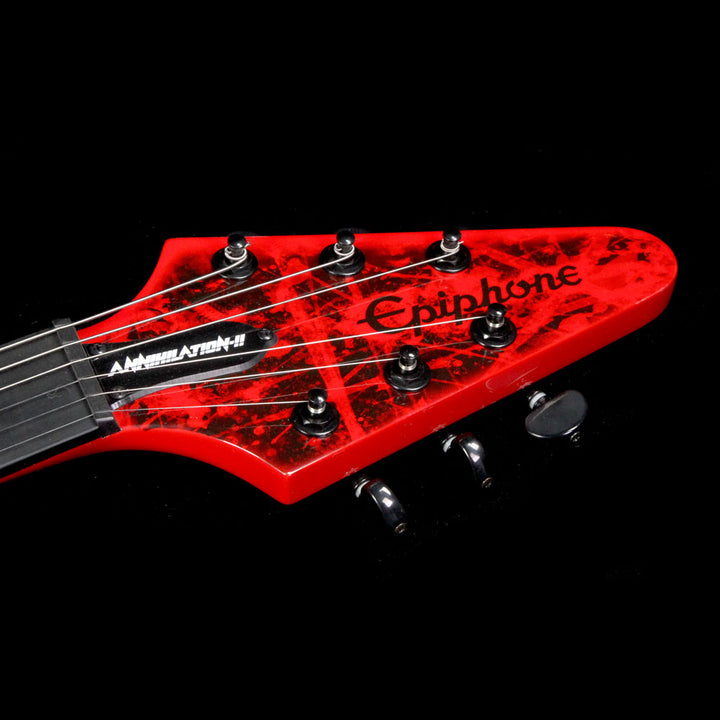 Epiphone Jeff Waters Annihilation-II Flying V Outfit Electric Guitar Annihilation Red EDJWARBH3