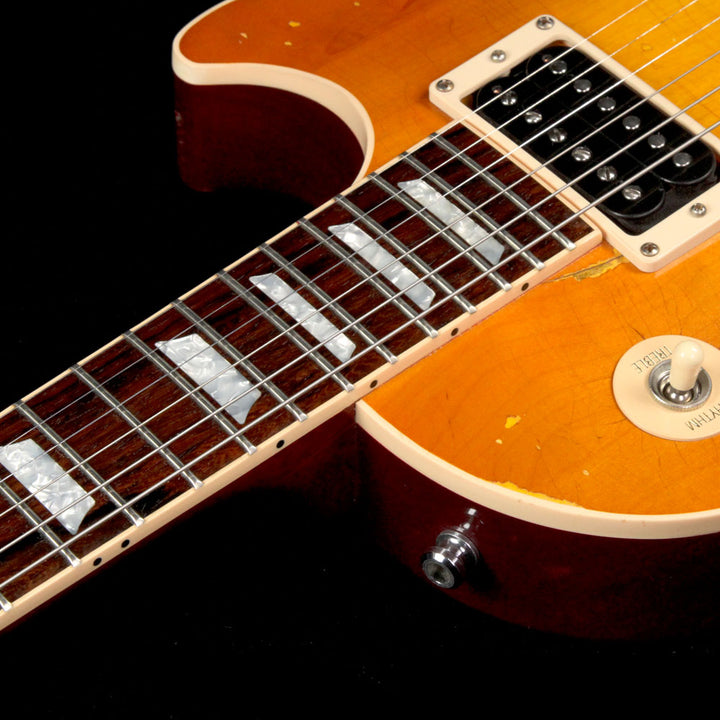 Used 2008 Gibson Custom Shop Inspired By Slash Les Paul Standard Aged and Signed Electric Guitar Heritage Cherry Sunburst SA096