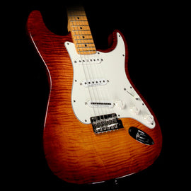 Used 2011 Fender American Select Stratocaster Electric Guitar Dark Cherry Burst