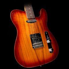 Used 2011 Fender Select Koa Top Telecaster Electric Guitar Sienna Sunburst