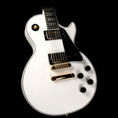 Gibson Custom Shop Limited Edition Les Paul Custom Sparkle Abalone Electric Guitar White Sparkle