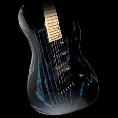 Legator Ninja Fanned Fret 6-String Ash Body Electric Guitar Blue