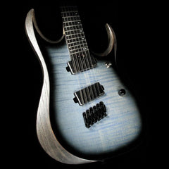 Ibanez Iron Label RGDIM6FM Electric Guitar Cerulean Blue Burst Flat