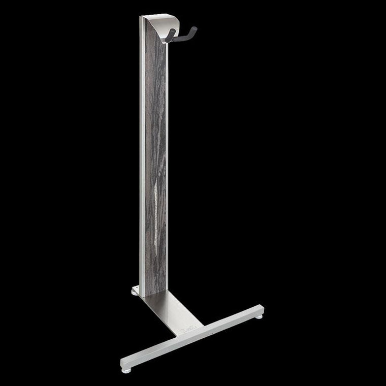 LSL Arc Guitar Stand Silver and Weathered Acacia