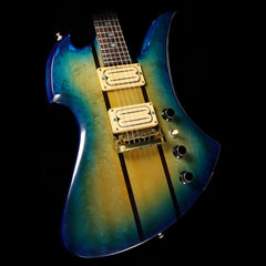 Used 1982 B.C. Rich Mockingbird  Electric Guitar Blue Green Burst