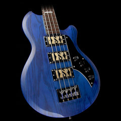 Used 2017 Supro Huntington III Electric Bass Guitar Transparent Blue