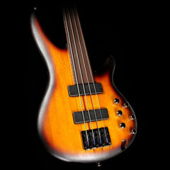 Ibanez Bass Workshop SRF700BBF 4-String Fretless Bass Guitar Brown Burst Flat