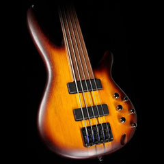 Ibanez Bass Workshop SRF705BBF 5-String Fretless Bass Guitar Brown Burst Flat