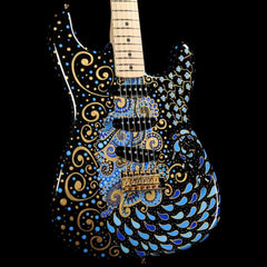 Fender Custom Shop Delta Blue Stratocaster Masterbuilt Greg Fessler with Sarah Gallenberger Artwork