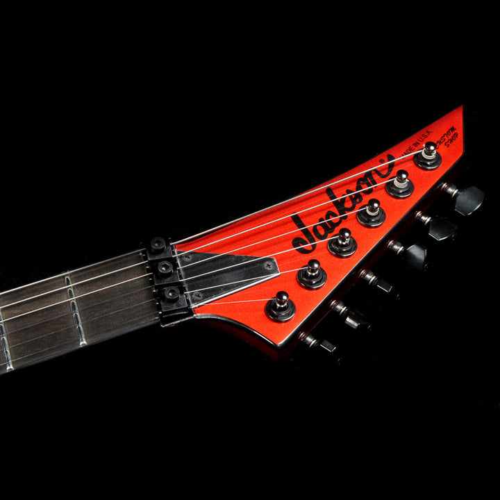 Jackson Custom Shop Double Rhoads Masterbuilt Mike Shannon Red with Black Bevel RR3648