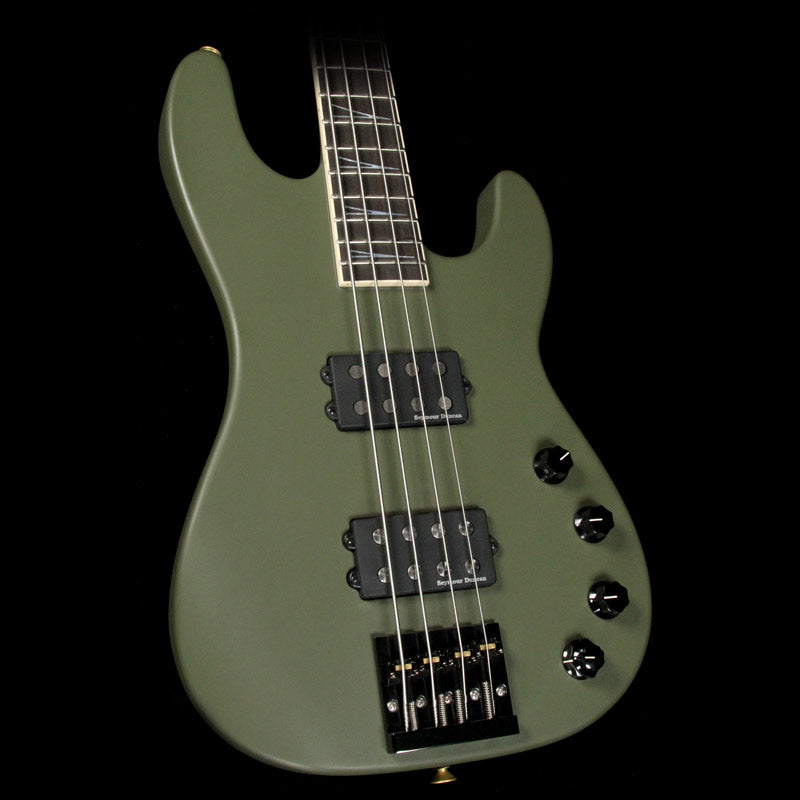 Jackson Custom Shop Concert Bass Masterbuilt Mike Shannon Army Drab Green J9509