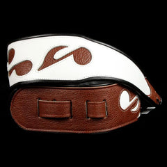 Jodi Head SRV Music Notes Guitar Strap White/Brown