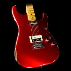 Used 2016 Fender Custom Shop Limited Edition Relic H/S Stratocaster Electric Guitar Candy Apple Red